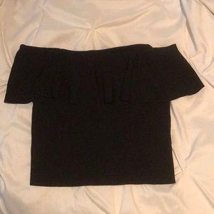 Zara black strapless shirt